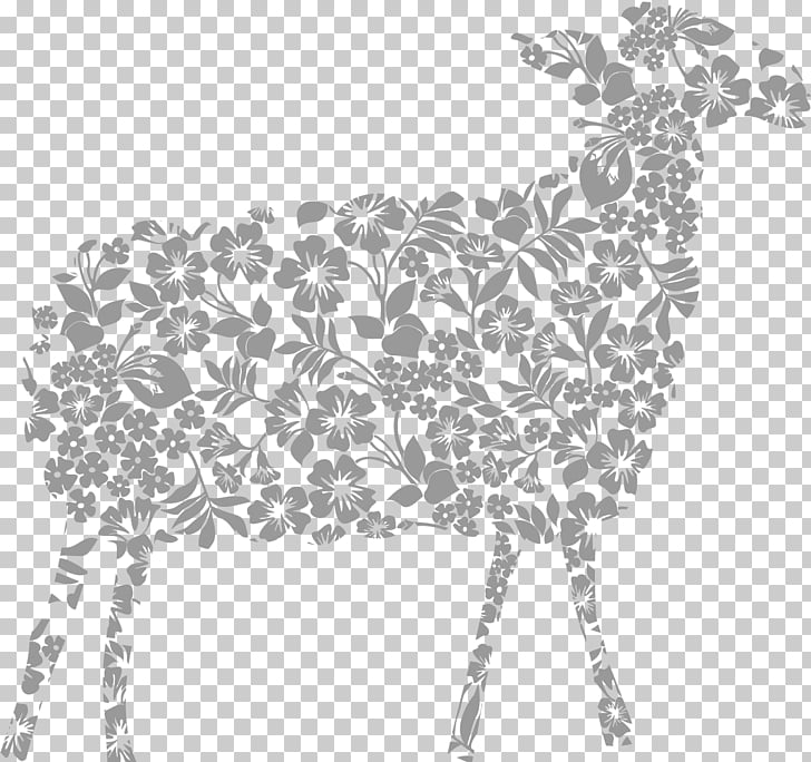 Sheep, Abstract Grey Goat PNG clipart.