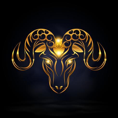 gold goat symbol.