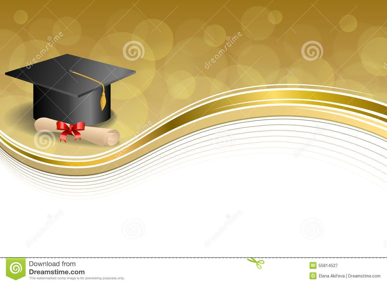 Background Abstract Beige Education Graduation Cap Diploma.