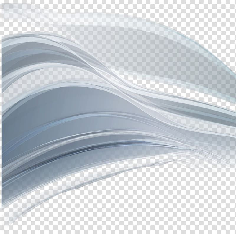Gray and white wave illustration, Abstract lines transparent.