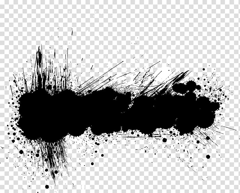 Black and white text bubble, Banner Grunge , Abstract black.