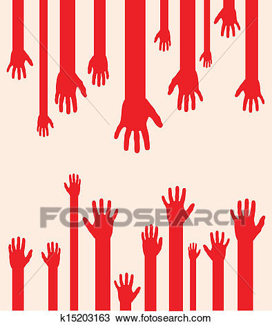 Abstract hands Clipart.