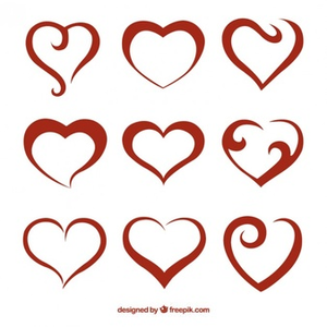 Free Abstract Heart Clipart.