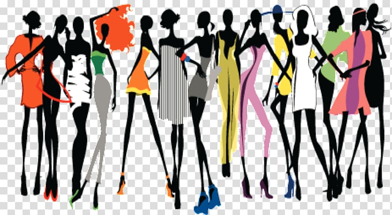 Abstract illustration runway model clipart Transparent.