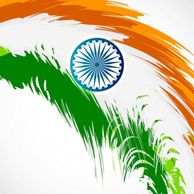 Abstract Indian flag design Vector.