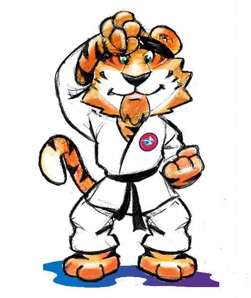 karate instructor cartoon.