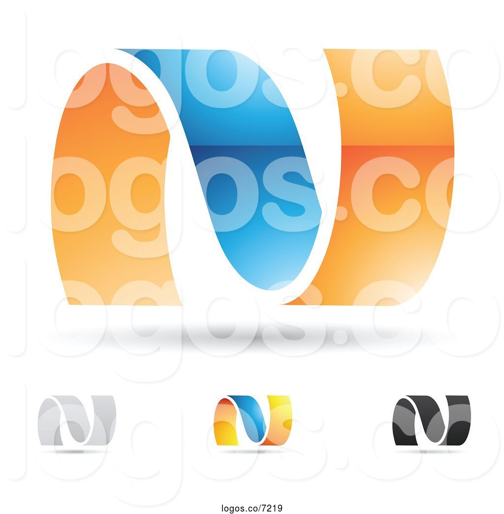 Royalty Free Clip Art Vector Abstract Letter N Design Logos.