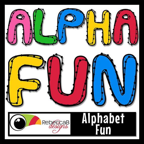 Alphabet Clip Art , Alphabet Letters Clipart, Digital Clip.