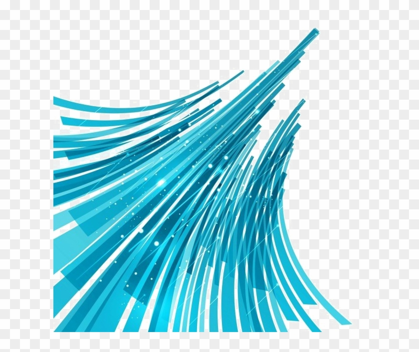 Turquoise Abstract Lines Png Image Background.