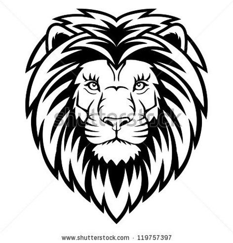 lion head coloring pages.