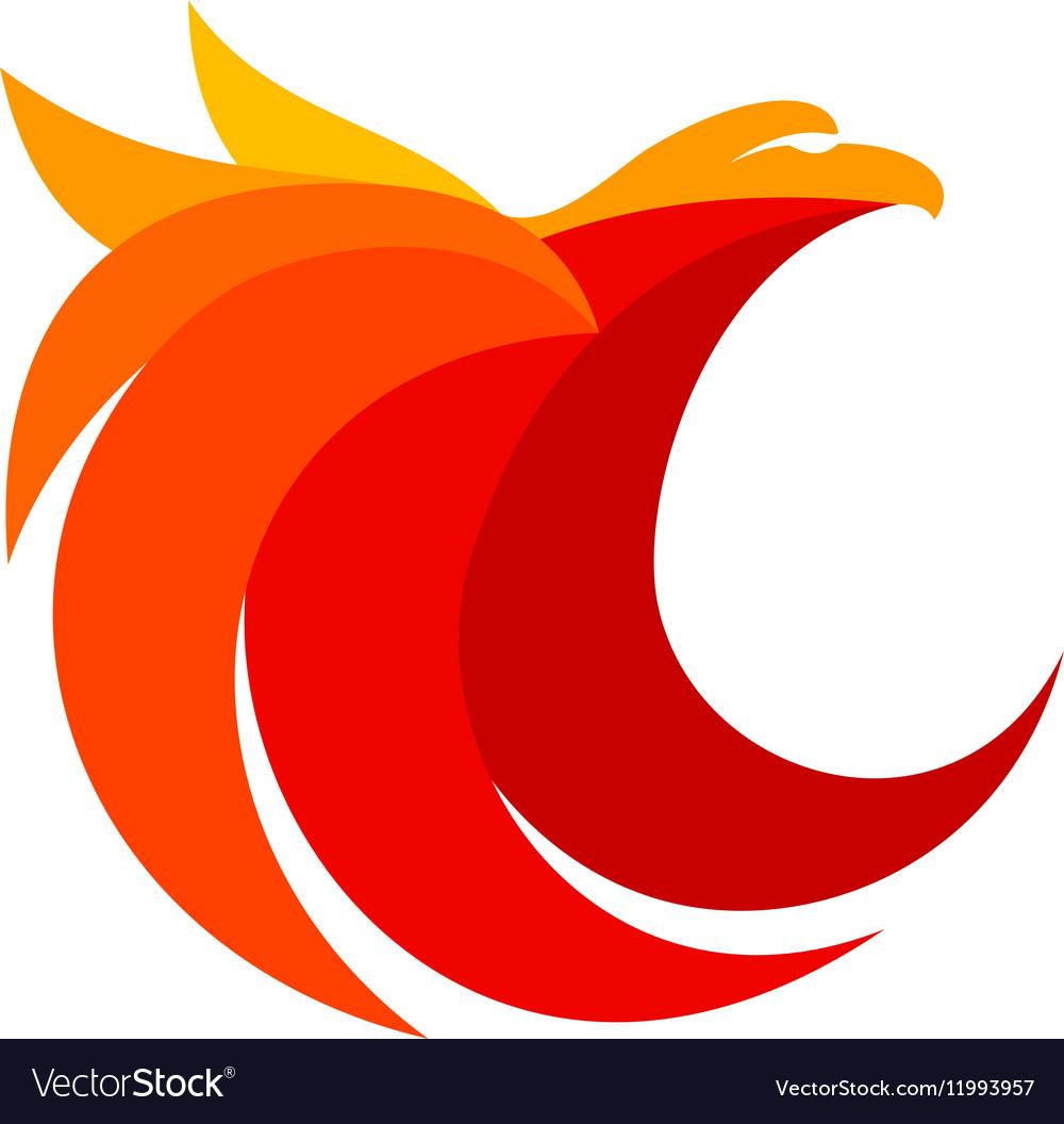Eagle abstract logo design.