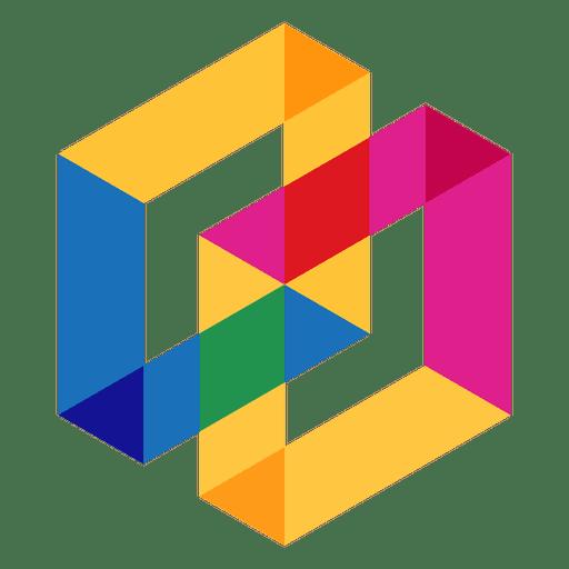 Geometric logo abstract.