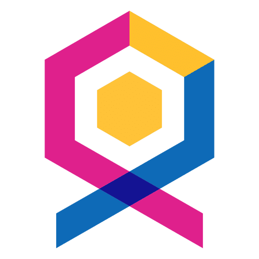 Geometric abstract logo label.