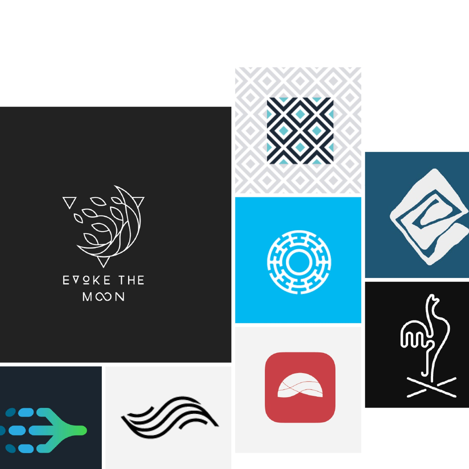 22 abstract logos that are more than just a feeling.