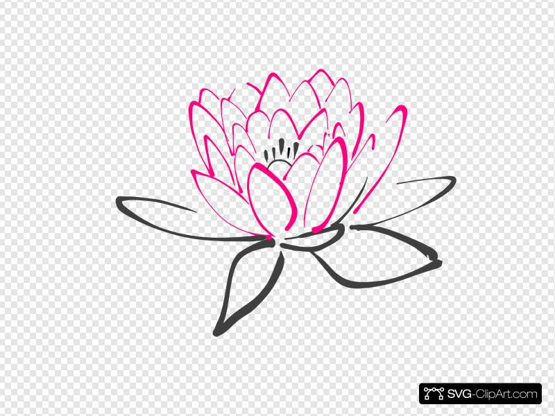 Pink Abstract Lotus Clip art, Icon and SVG.