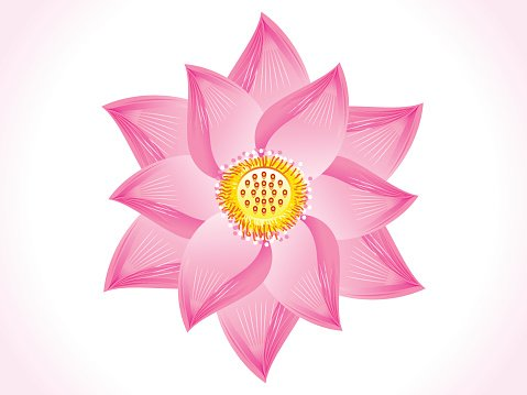 abstract artistic lotus flower Clipart Image.