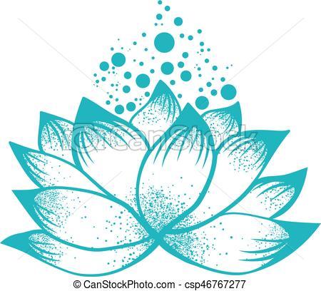 Abstract Logo Design of Lotus Flower.