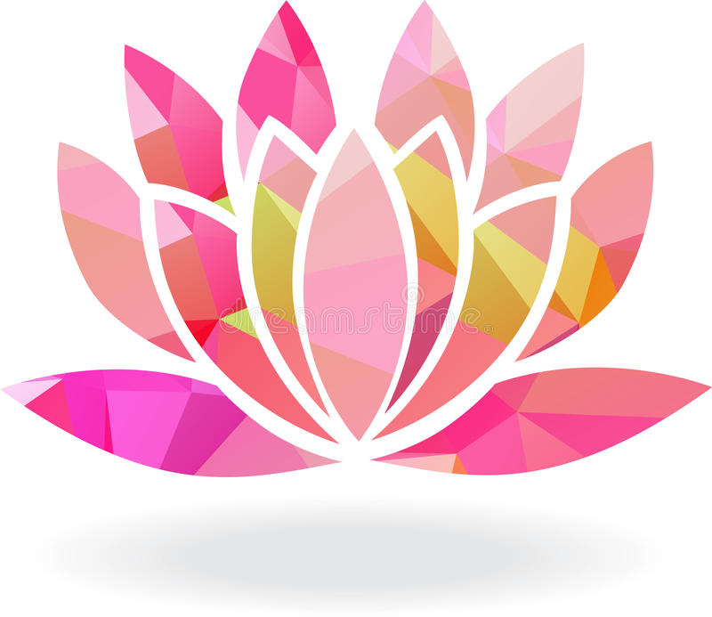 Abstract Lotus Stock Illustrations.