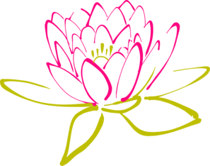 Abstract Lotus Clip Art.