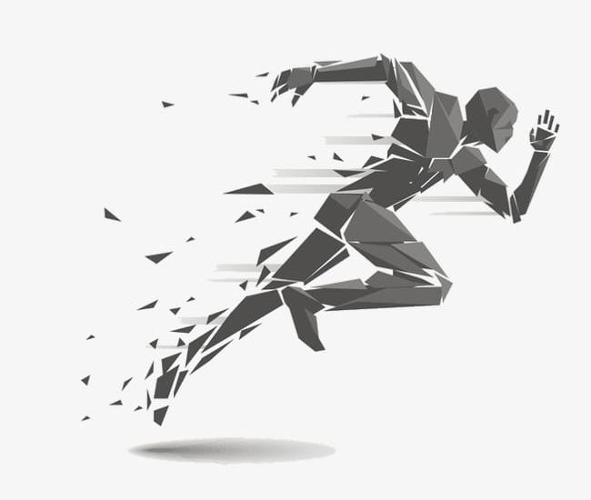 Abstract Running Man PNG, Clipart, Abstract, Abstract.