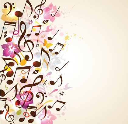 Abstract music background Clipart Image.