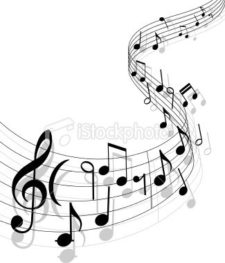 Musical abstract background for design.