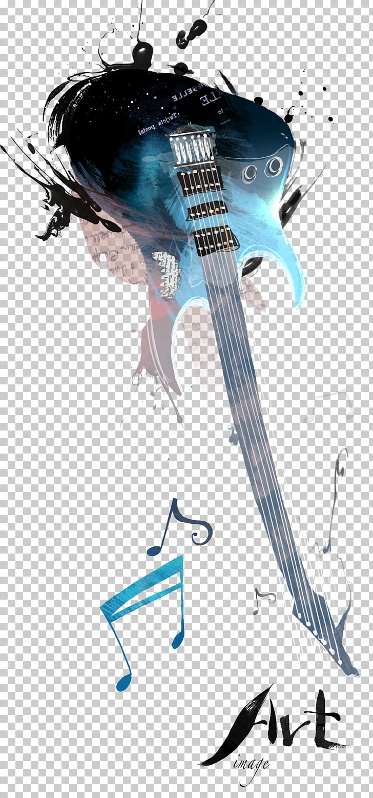 Electric guitar Musical instrument, Electric guitar abstract.