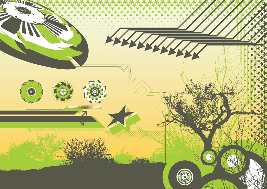 Abstract Nature Background Graphics Vector Art & Graphics.