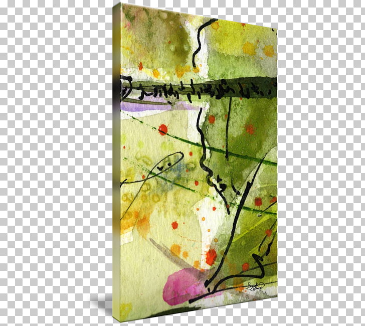 Watercolor painting Modern art Gallery wrap Canvas, Abstract.