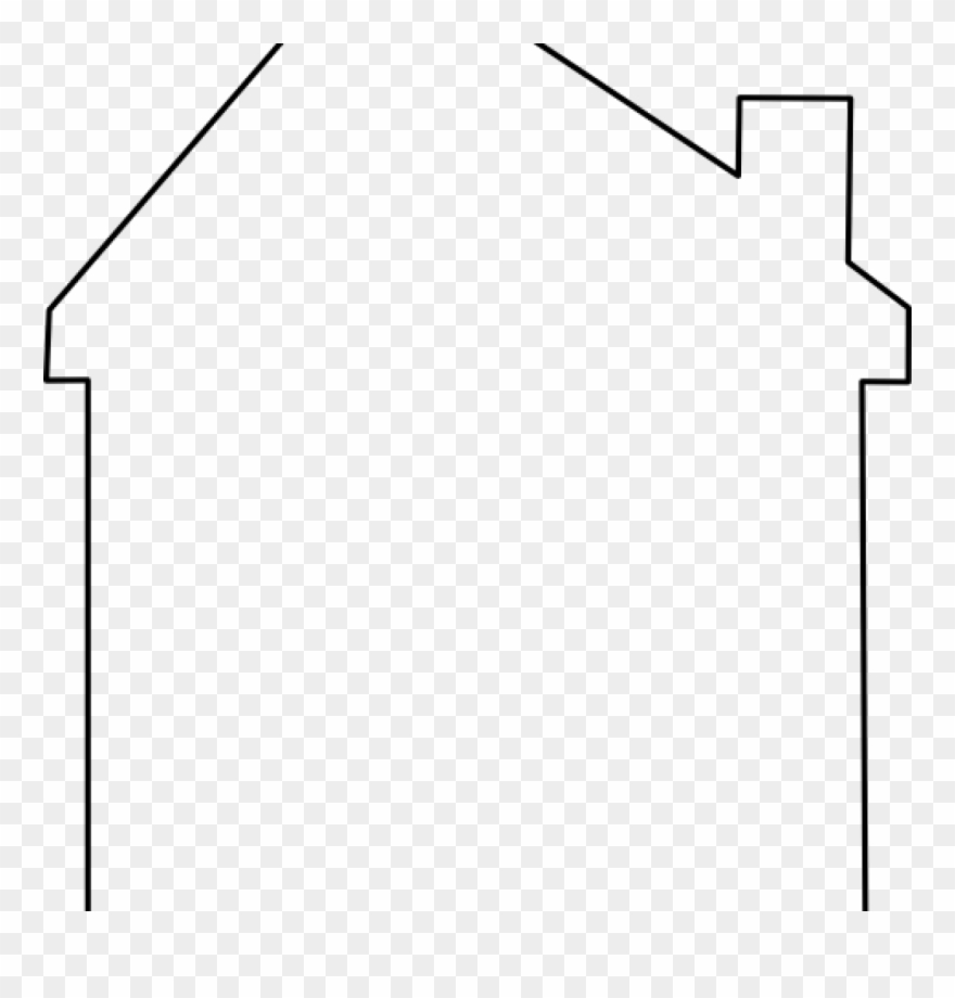 House Outline Clipart Abstract Roof Clip Art At Clker.