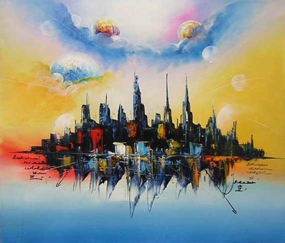 abstract landscape paintings.