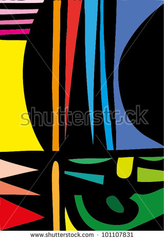 A Vector Illustration Of An Abstract Painting..