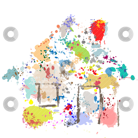 House Paint Drops Splatter Grunge Home Abstract stock vector.