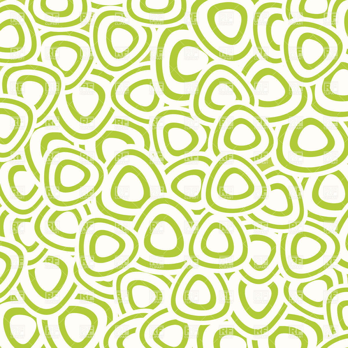 Abstract pattern made of green rounded triangles Vector Image.