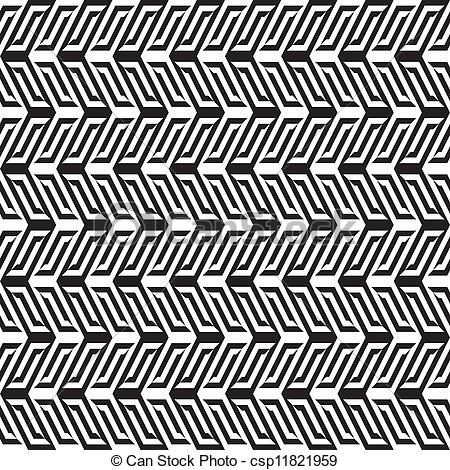 Clipart Vector of Abstract black & white pattern 1 csp11821959.