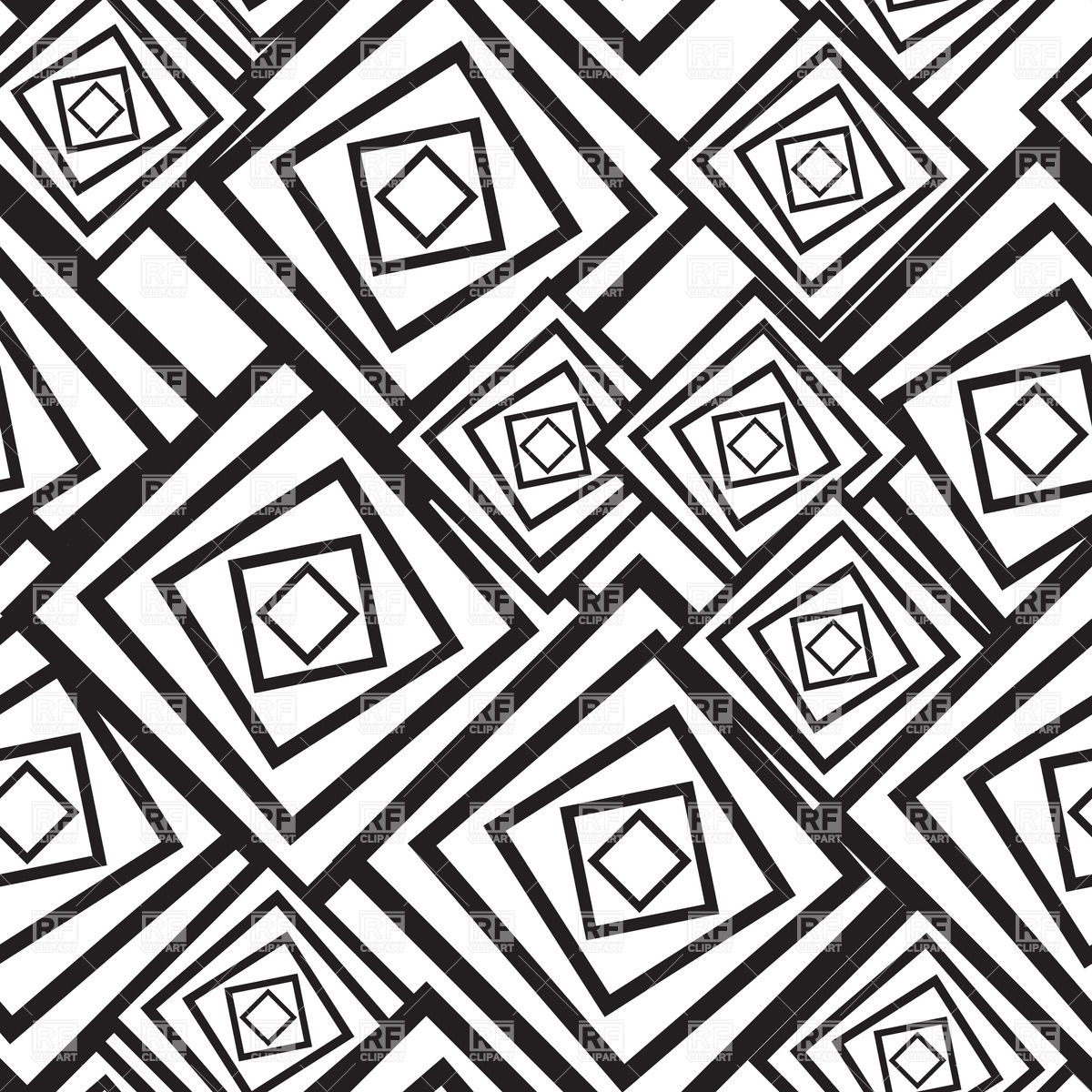 Black and white abstract pattern with squares Vector Image #33507.