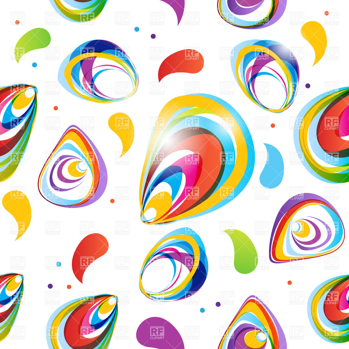 Abstract colorful seamless pattern Vector Image #22746.