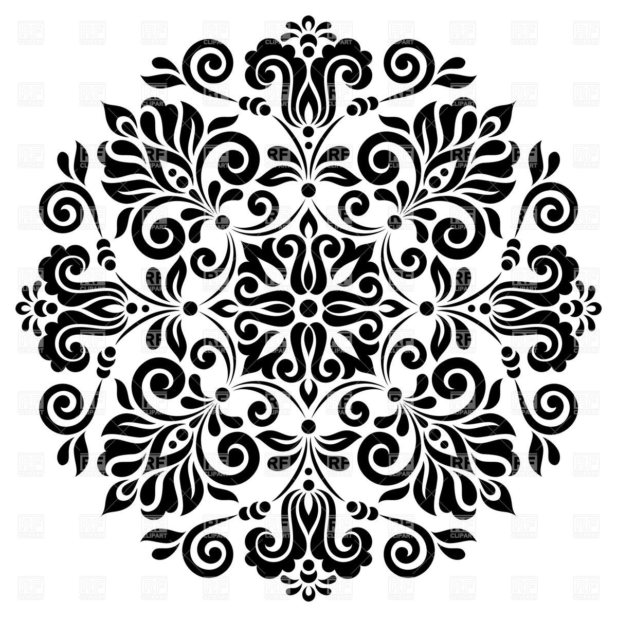 Flower Pattern Clipart.