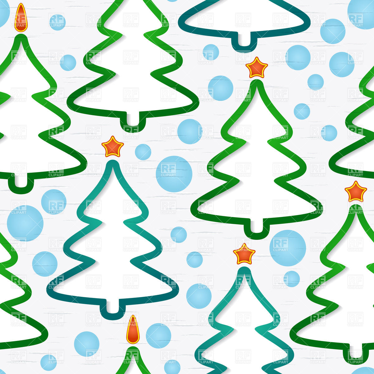Seamless pattern with abstract Christmas trees Vector Image #33800.
