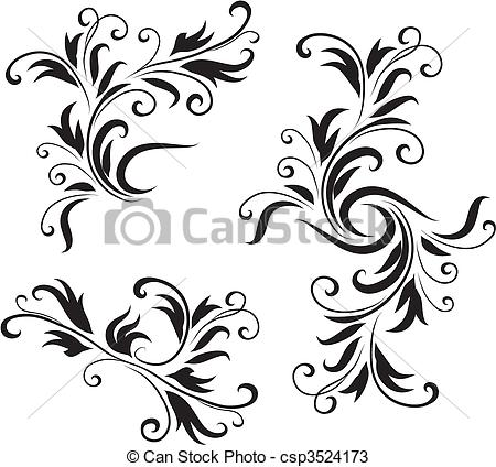 Vectors of Abstract Black and White Design Pattern Original Vector.