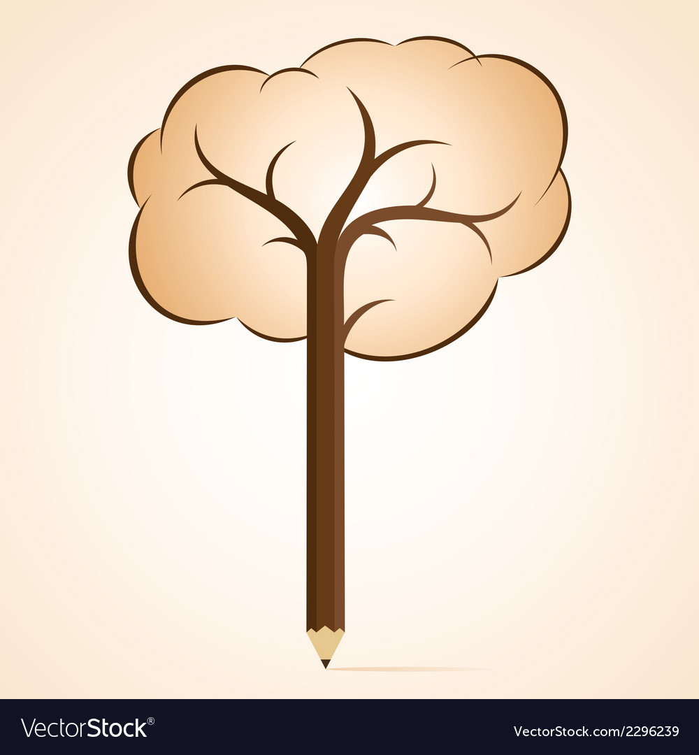 Abstract pencil tree.