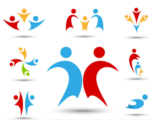 Vector Abstract People Logo.