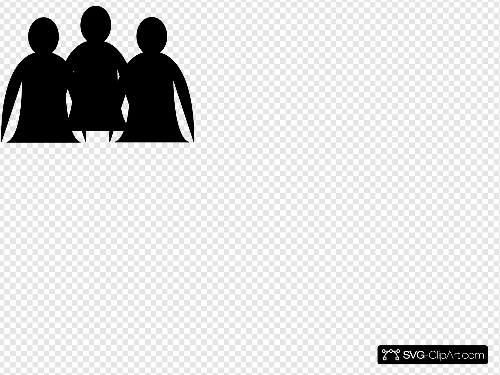 Abstract People Clip art, Icon and SVG.