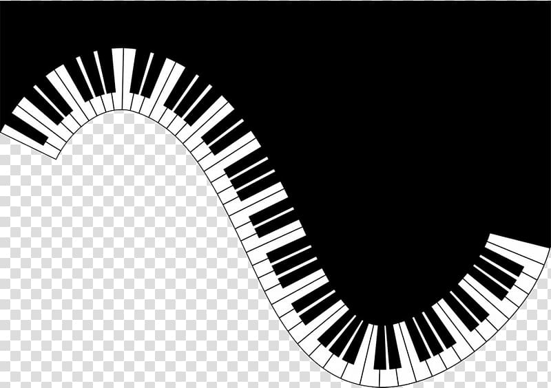 Black and gray piano illustration, Real Piano Chords Music.