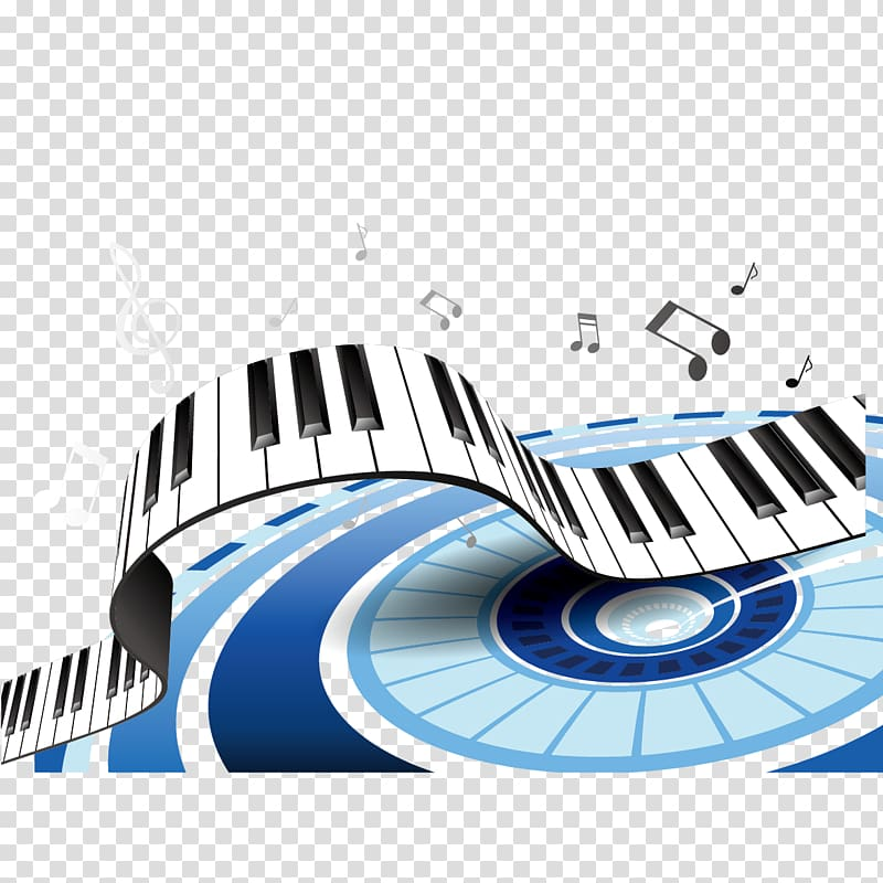 White and black piano and musical note , Piano Musical.