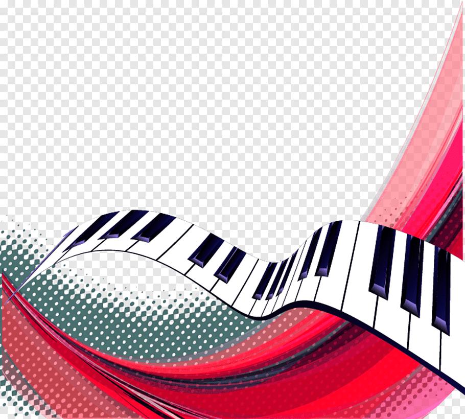 Illustration of piano keyboard, Musical note Piano Keyboard.