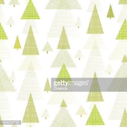Abstract Pine Tree Forest Seamless Pattern Background.