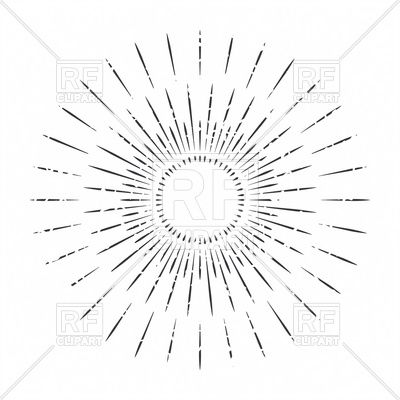 Abstract ray of sun decoration element Stock Vector Image.