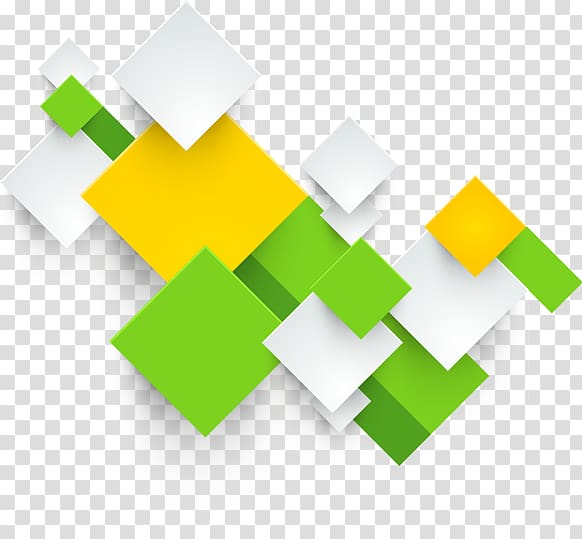 White, green, and yellow box illustration, Printing Square.