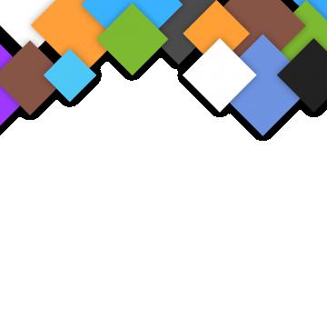 Colorful Square Frame, Frame Design, Frame Vector PNG.